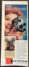 ORIGINAL 1959 Keystone Automatic Electric Eye Movie Camera PRINT AD