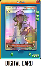 Pokemon TCG ONLINE Trainer N 105a/124 (DIGITAL CARD) Full Art Alt Promo