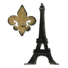 *NEW!  Sizzix BigZ Die Fleur de Lis & Eiffel Tower Tim Holtz Alterations 658556