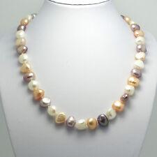 N-009 Design Perlenkette SWZ Perlen mit 925 Sterling Silber Verschluß
