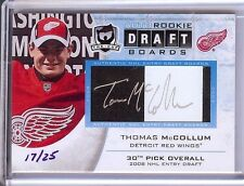 2011-12 THE CUP AUTO ROOKIE DRAFT BOARDS THOMAS MCCOLLUM RC AUTO 17/25!!