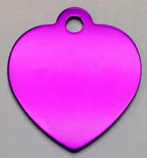 10 Blank ID Wholesale Heart Pet identification tags Anodized Aluminum USA Made