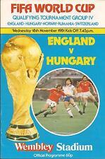 England v Hungary - World Cup - 18/11/1981 - Football Programme