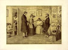 ARTHUR BURDETT FROST Antique 1906 Romantic Print MARRIAGE, P.F. Collier & Son