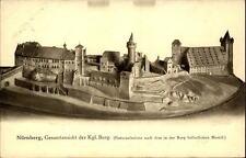 Nürnberg Bayern Bavaria um 1930/35 Gesamtansicht der Burg im Modell ungelaufen