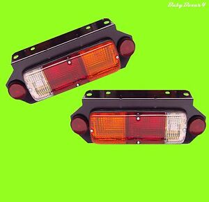 Ute Cab Chassis Trailer Tray Back Universal Tail Brake Lights Lamps for Toyota