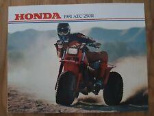 NOS HONDA  ATC 250 R 1981 SALES BROCHURE BOOKLET VINTAGE ATC250R 81
