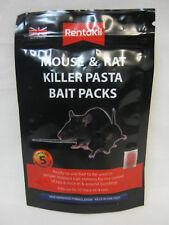 New Rentokil Mouse And Rat Killer Pasta Bait Packs 5x 10g Sachets FMR51
