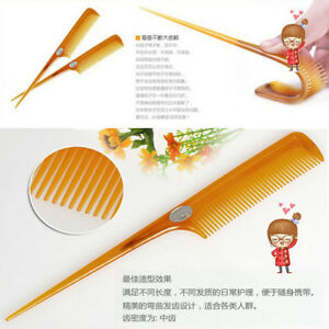 1PC  Hair Comb Salon Brush Styling Hairdressing Rat Tail Plastic Tool Comb