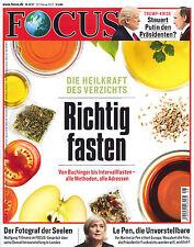 FOCUS Magazin - Heft 8/2017 vom 18.2.2017: Richtig fasten  +++ wie neu +++