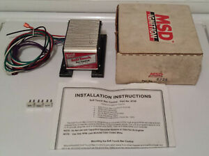 MSD Ignition 8728 Soft Touch Rev ControlLimiter, box, instructions, 3 RPM chips