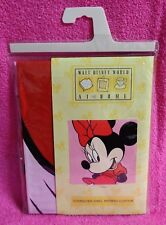 "Walt Disney World At Home Minnie Mouse Vinyl Shower Curtain 72"" x 72"" New"