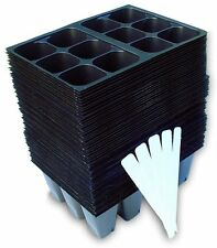 New listing 720 Cells Seedling Starter Trays for Seed Germination 5 Plant Labels120 x 6 cell