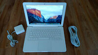 "Apple MacBook White MC207LL/A.13"" a1342.New 1TB SSHD Hybrid. NEW 8gb. OSX Sierra"