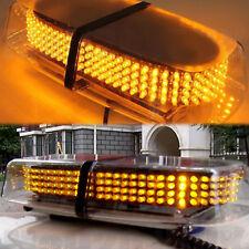 UK 12V Amber 240 LED Vehicle Roof Lightbar Flashing Beacon Strobe Light Magnetic