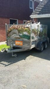 ifor williams trailer Full-Size Tailgate Ramp Mesh Sides 8 X 5 Foot Twin Wheel