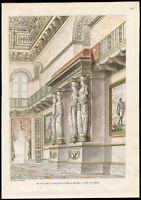 Antique Print-PALACE-TUILERIES-PAINTING-SCULPTURE-PARIS-Percier et Fontaine-1812