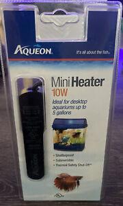 Aqueon Fish Tank Mini Heater, 10-watt, Plastic! Brand New Sealed Package!