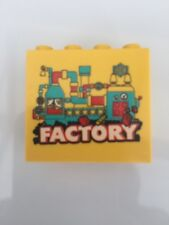 Lego Factory Brick yellow 4 x 2 rare good clean condition