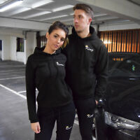 King or Queen Black Embroidered Hoodies Twin Pack Couples Matching Royalty Gifts