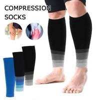Halb Kompressions strümpfe ohne Fuß StützStulpen Wadenkompression Beinling Sport