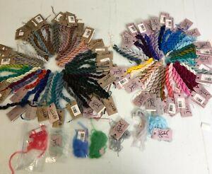 Lot of 90+ skeins Caron Rachel & Rachelette needlework embroidery thread