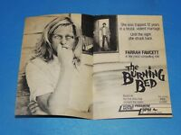 Vintage Original 1984 Farrah Fawcett The Burning Bed 2 page ad **FREE SHIPPING*