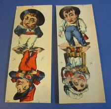 Old c.1910 Antique - French Game PRINT - Comic Characters - Lot of 4