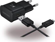 CHARGEUR SECTEUR + CABLE USB ORIGINAL SAMSUNG NOIR RECHARGE CHARGE RAPIDE 2A