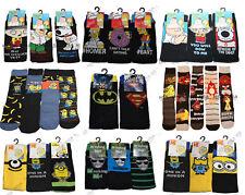Mens official Novelty Character Cartoon Socks,Tv theme,Adults,Birthday Gift