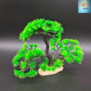 Aquarium Large Artificial Plastic Plant Ornament Fish Tank Green Bonsai Tree