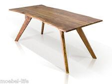 GERA II Esstisch mit Baumkante Tisch Massivholztisch Holz Akazie massiv 180x90