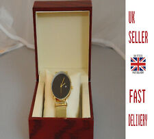 🇬🇧 Mens Gold Sleek Watch Ultra Stylish with LUXURY BOX 🇬🇧 Stainless Steel