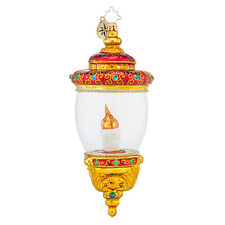 Christopher Radko - Welcoming Glow - Candle in Glass Dome Ornament 1018461