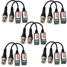 10 Pcs CCTV Camera Passive Video Balun BNC Connector Coaxial Cable Adapter USA