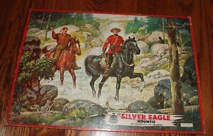 VINTAGE MILTON BRADLEY JIGSAW PUZZLE TRAY THE SILVER EAGLE MOUNTIE 1950's