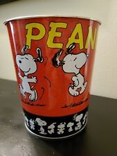 Peanuts Snoopy Tin waste paper bin- not used for trash. Not vintage, but new.