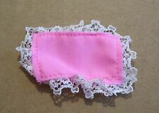 VINTAGE BARBIE MATTEL 1974 SEARS BABYSITS PINK LACE PILLOW ACCESSORY