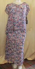 3X Sky's the Limit Womens Red White Blue Floral Top & Matching Skirt New Tags