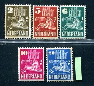 Nederland, frankeer nvph 550 / 555 Kerken in oorlogstijd, ongebruikt ;