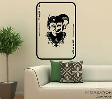 Joker Card Wall Decal Vinyl Sticker Decor mural graphics gift Halloween Batman