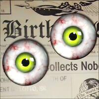 Green Monster Eyes Realistic Glass Taxidermy Eyeball 16mm Set