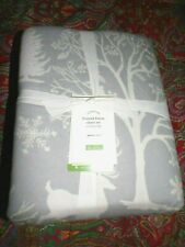 POTTERY BARN FROSTED FOREST ORGANIC FLANNEL SHEET SET, NEW, QUEEN