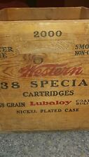 Vintage Western Cartridge 38 Special Wood Ammo Crate Box USA 7 empty ammo boxes