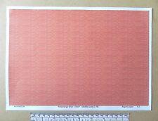 """OO/HO gauge (1:76 scale) """"Red/orange brick-clean"""" -  paper- A4 sheet"""