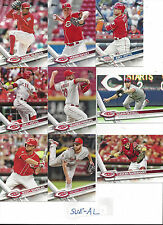 2017 Topps Full Cincinnati Reds Team Set Schebler Ervin Duvall Joey Votto 35