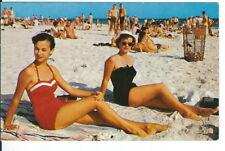CG-359 NC, Morehead City and Pretty Women at Atlantic Beach Chrome Postcard