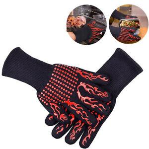 Grillhandschuhe hitzebeständig 800° feuerfeste Handschuhe für Küche & Grill BBQ