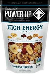 Power Up Trail Mix, High Energy 14 Ounce (Pack of 1), Light Blue