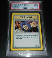 PSA 9 MINT Here Comes Team Rocket! 15/82 Team Rocket HOLO RARE Pokemon Card